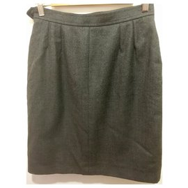 Yves Saint Laurent-Rive Gauche YSL skirt-Grey