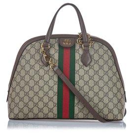 Gucci-Ophidie Gucci Brun Moyen GG Suprême Web-Marron,Multicolore,Beige