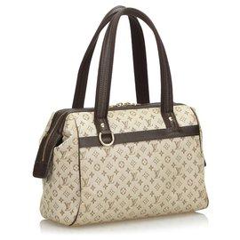 Louis Vuitton-Louis Vuitton Brown Monogram Mini Lin Josephine PM-Brown,Beige,Dark brown