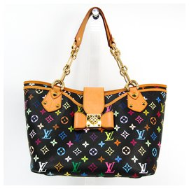 Louis Vuitton-Louis Vuitton Black Monogram Multicolore Annie GM-Black,Multiple colors