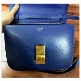Céline-Celine blue Medium box bag-Blue