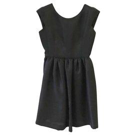 Balenciaga-Robe en soie noire Balenciaga IT40-Noir
