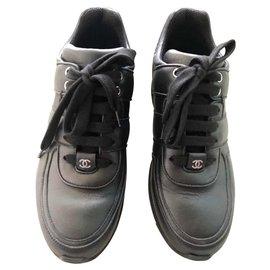 Chanel-Chanel Black trainers EU38-Black