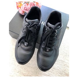 Chanel-Chanel Black trainers EU38-Black