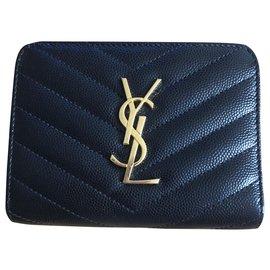 Saint Laurent-Monogram wallet-Black