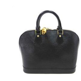Louis Vuitton-ALMA PM LEATHER EPI BLACK-Black