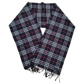Burberry-Stunning Burberry wool scarf-Black,Red