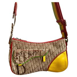 Dior-Christian Dior rasta saddle bag by John Galliano-Multiple colors