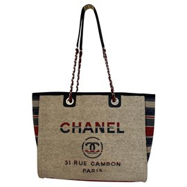Chanel-Cabas Deauville-Beige