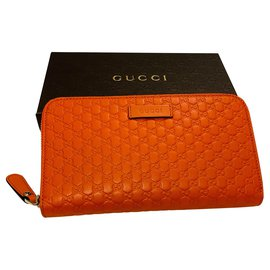 Gucci-portefeuilles-Orange
