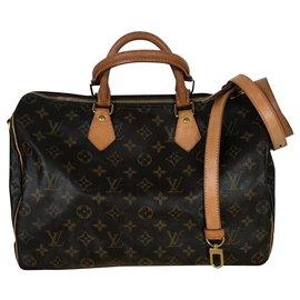 Louis Vuitton-Speedy 35 Bandouliere monogram-Other