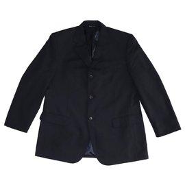 Balenciaga-Vestes Blazers-Bleu Marine