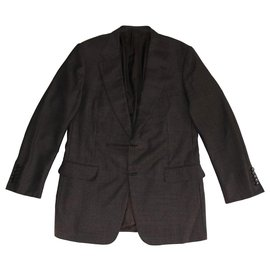 Gucci-Blazers Jackets-Brown