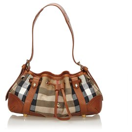 Burberry-Burberry Brown Plaid Jacquard Shoulder Bag-Brown,Multiple colors