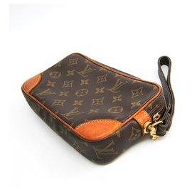 Louis Vuitton-Louis Vuitton Brown Monogram Marly Dragonne Pm Womens-Brown