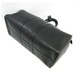 Louis Vuitton-Louis Vuitton Black Epi Keepall 45-Black