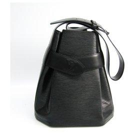 Louis Vuitton-Louis Vuitton Black Epi Sac dEpaule-Black