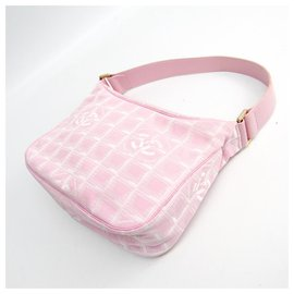 Chanel-Chanel Pink New Travel Line Shoulder Bag-Pink,White