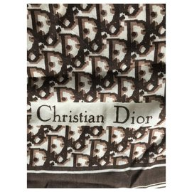 Christian Dior-Echarpes-Marron