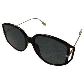 Dior-Direction Dior 2 lunettes de soleil-Marron,Doré