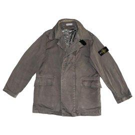 Stone Island-Blazers Jackets-Grey