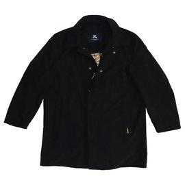Burberry-Manteaux pour hommes-Noir