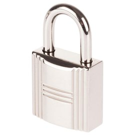 Hermès-Hermès Palladié locks silver for Birkin or kelly bags, new condition with 2 keys and original pouch!-Silvery