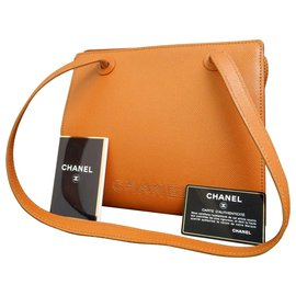Chanel-Chanel Vintage Shoulder Bag-Brown