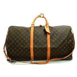 Louis Vuitton-Louis Vuitton Keepall Bandouliere 60-Brown