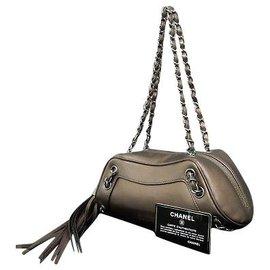 Chanel-Chanel Vintage Sac à bandoulière-Taupe