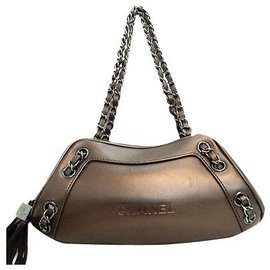 Chanel-Chanel Vintage Shoulder Bag-Taupe