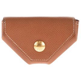 Hermès-Hermès Coin Purse 24 Epsom Gold leather!-Golden