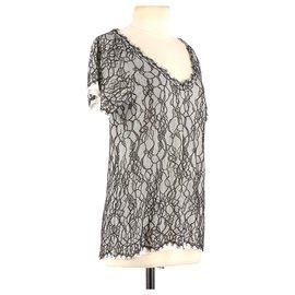 Diane Von Furstenberg-Wrap blouse-Black