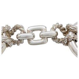 """Hermès-Bracelet Hermès """"Douarnenez 127"""" en argent.-Autre"""