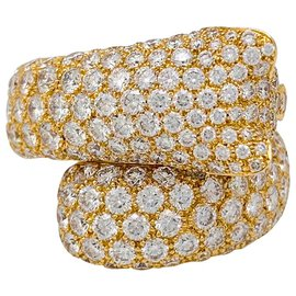 "Cartier-Cartier ""Panthère de Cartier"" ring in yellow gold, diamants, emeralds and onyx.-Other"