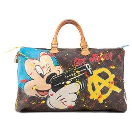 Louis Vuitton-Louis Vuitton Speedy Handbag 40 Monogram customized by PatBo!-Brown