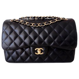 Chanel-GM CLASSIC CHANEL BAG-Black