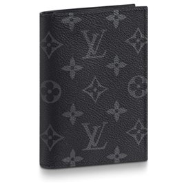 Louis Vuitton-Capa para passaporte new louis vuitton-Cinza antracite