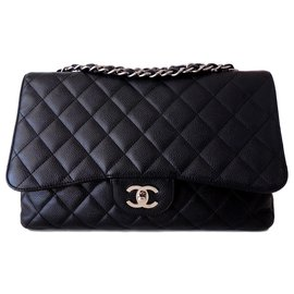 Chanel-CLASSIC CHANEL BAG CAVIAR GM-Black