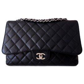 Chanel-SAC CHANEL CLASSIQUE CAVIAR GM-Noir