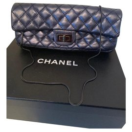 Chanel-2.55-Blue,Metallic