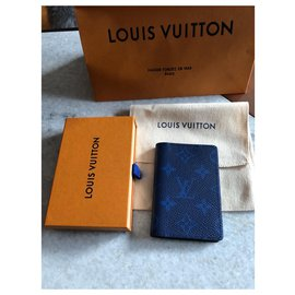 Louis Vuitton-Carteira Louis Vuitton taigarama-Azul