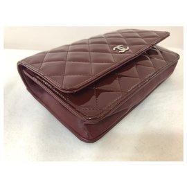 Chanel-WOC Bordeaux k Silver hardware-Dark red