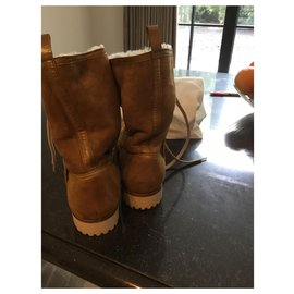 Christian Dior-Bottines-Beige