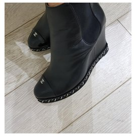 Chanel-Chanel ankle boots-Black