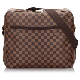 Louis Vuitton-Louis Vuitton Brown Damier Ebene Dorsoduro-Brown