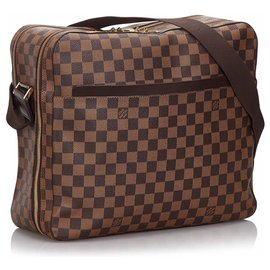 Louis Vuitton-Louis Vuitton Brown Damier Ebene Dorsoduro-Marron
