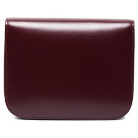Céline-Celine Red Medium Classic Box Bag-Red,Other