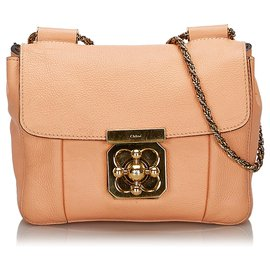 Chloé-Chloe Pink Leather Elsie Shoulder Bag-Pink