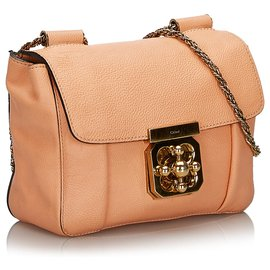 Chloé-Chloe Pink Leather Elsie Shoulder Bag-Pink